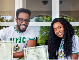 Vice President's Daughter, Kiki Osinbajo & Her Brother, Laolu Excited After Completing NYSC [Photos]