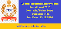 Central Industrial Security Force Recruitment