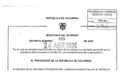 Decreto 593 de 2020