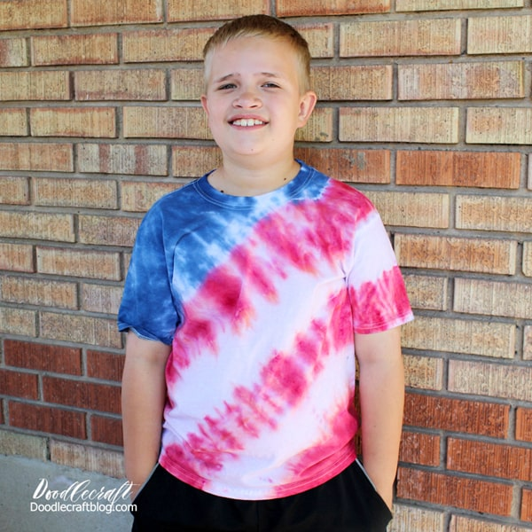 How to make a Patriotic USA Flag Tie Dye Shirt Tutorial!
