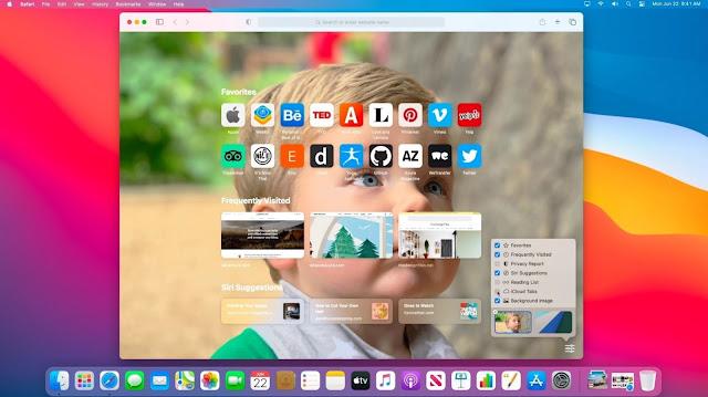 Cara Menambahkan Wallpaper Halaman Awal di macOS Safari 14