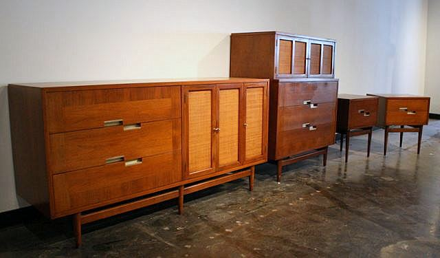 american of martinsville bedroom set mid2mod up and coming 18039
