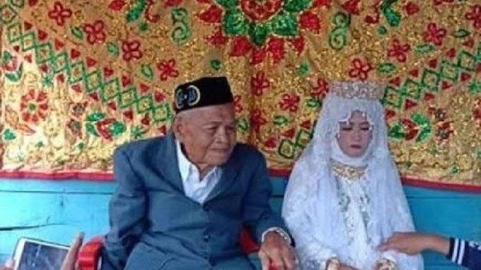 Viral Kakek Usia 103 Tahun Nikahi Gadis 27 Tahun, Mempelai Pria Jalannya Harus Dipapah, Ini Videonya
