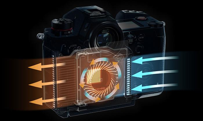 Устройство системы охлаждения в камере Panasonic Lumix S1H