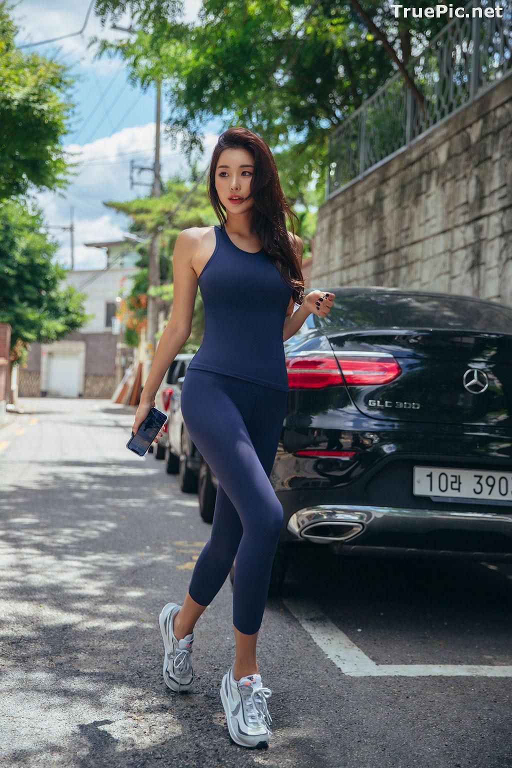 Image Korean Fashion Model - Park Da Hyun - Navy Sportswear - TruePic.net - Picture-3