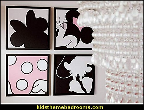 Ethan Allen Disney Minnie Mouse Quartet Part III Framed Artwork