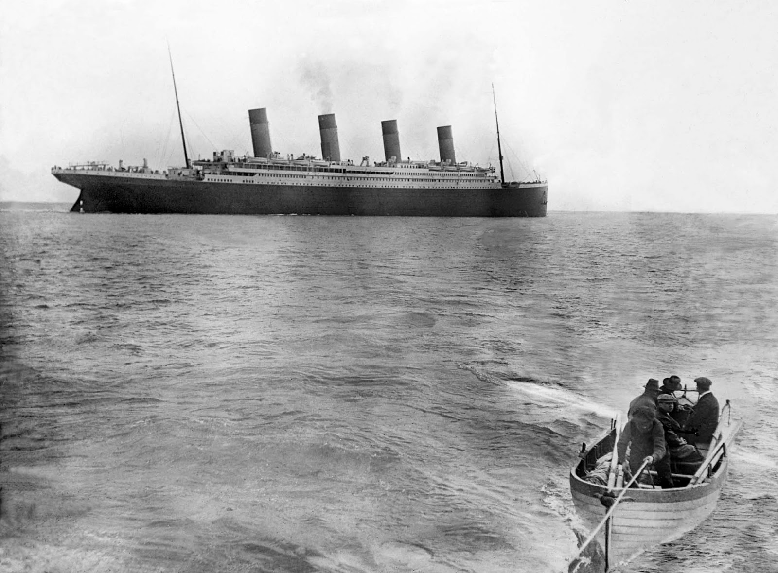 The last known photo of the Titanic afloat. Photo taken on April 12, 1912.