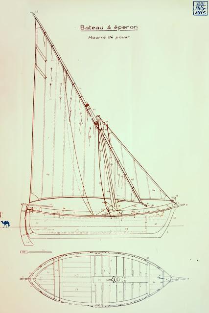 Le Chameau Bleu - Plan de bateau à Eperon - Brusc
