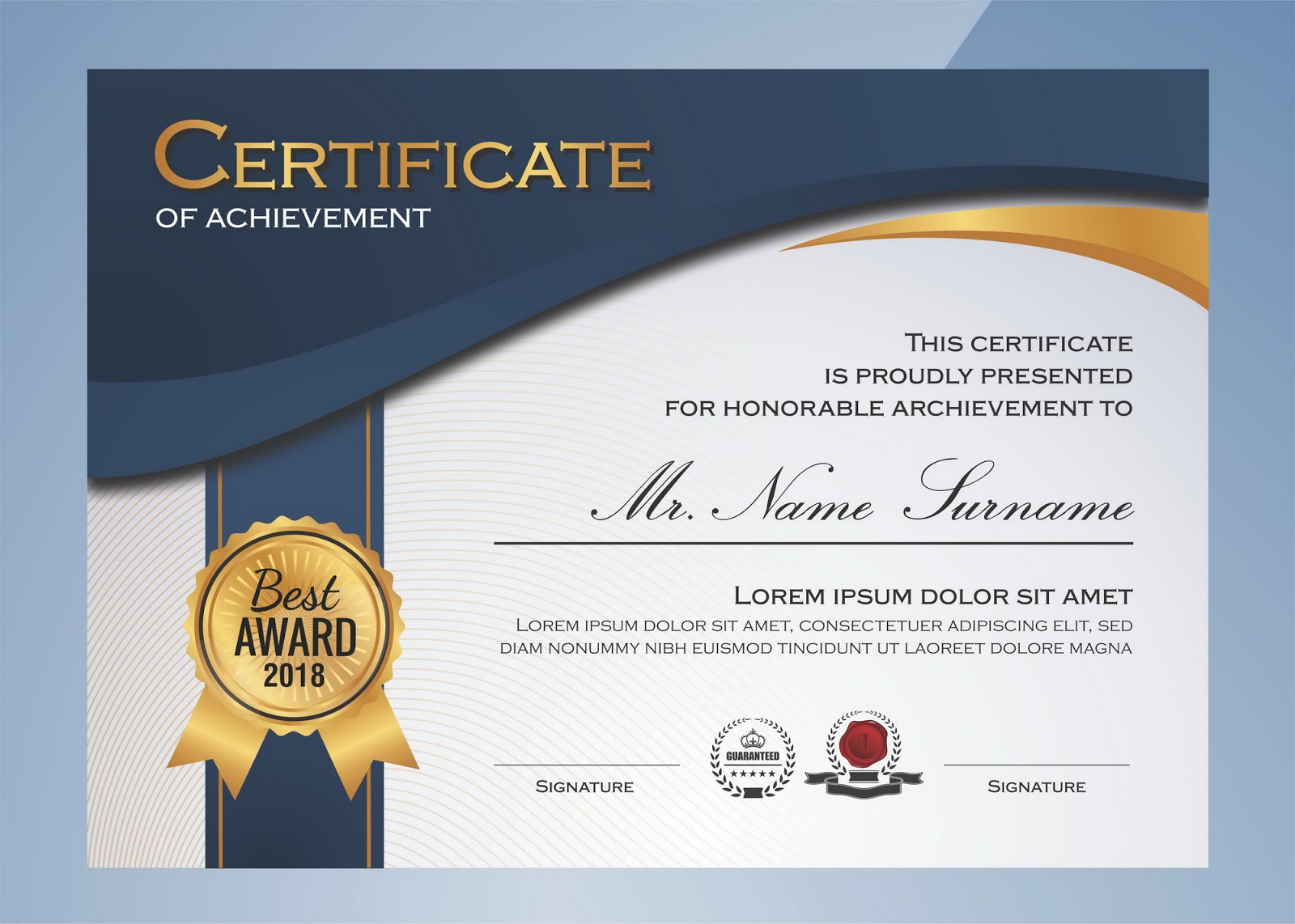 download template sertifikat terbaru gratis