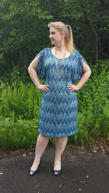 burda style c dress in blue