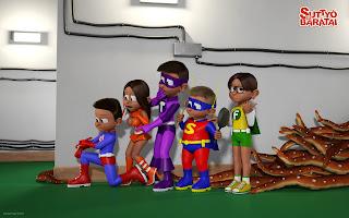 A S.E.T.I. hősök és a padló szörny csápjai