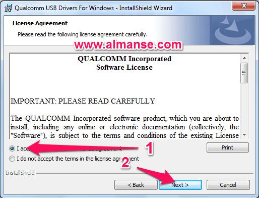 Install Qualcomm USB Driver