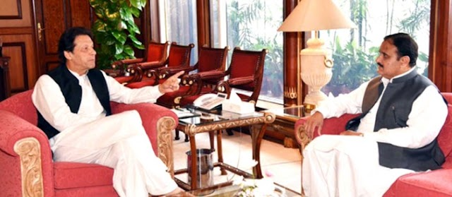 PM Imran meets CM Punjab Usman Buzdar