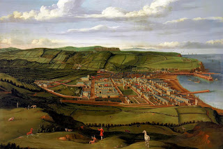 Painting by Matthias Read of Whitehaven, 1736