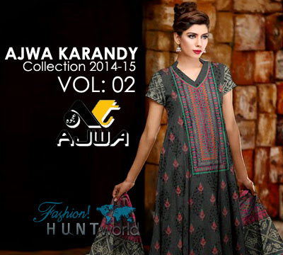 Ajwa Karandy Collection 2014-2015 Vol 2 | Latest Karandy Dresses For Winter - Fashion Hunt World | Fashion & Lifestyle Blog