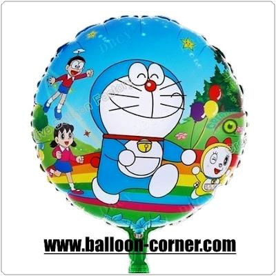 Balon Foil Bulat DORAEMON