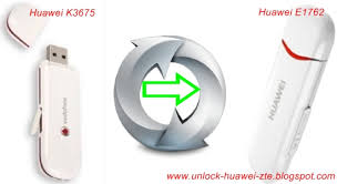 Convert Huawei K3765 to E1762 Modem
