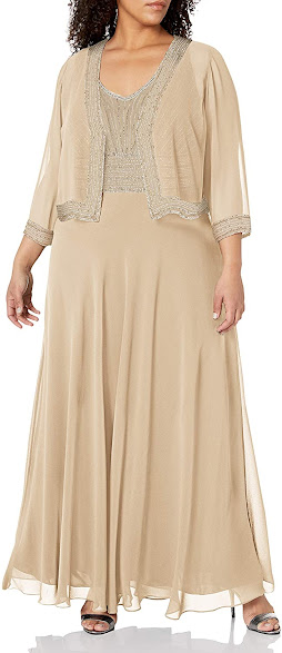 Long Plus Size Mother of The Groom Dresses With Jackets