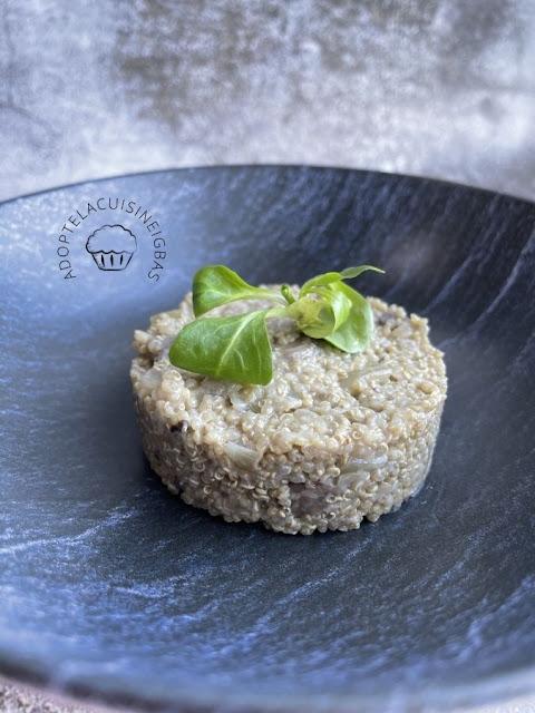 Quinoa aux champignons façon risotto  - IG bas