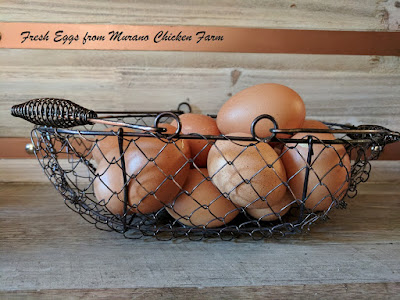 Fresh chicken eggs, summer vacation