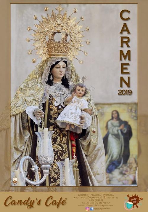 Cartel de la procesión de Ntra. Sra. del Carmen de Rota 2019