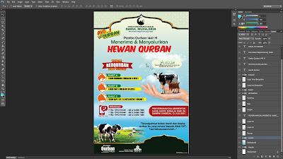 Desain Banner Baliho QURBAN PSD