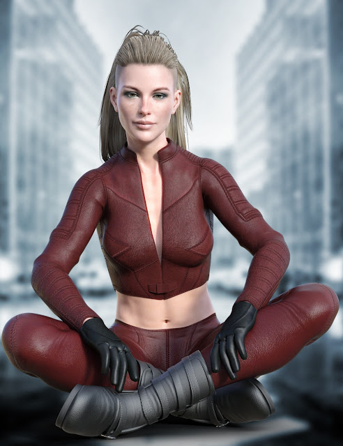 X-Fashion Justice Outfit for Genesis 8 Female