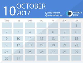 october 2017 timetable calendar
