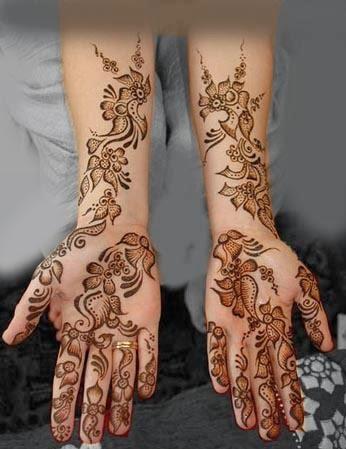 мехенди в арабском стиле