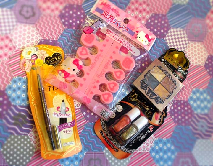 Daiso, Beauty products, Japanese Beauty brands, Asian Beauty, Beauty blog, Daiso Haul, Eyebrows, Red Alice Rao, redalicerao, Gradient nailpolish