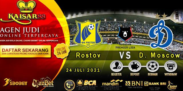 Prediksi Bola Terpercaya Liga Russia Rostov vs Dinamo Moscow 24 juli 2021