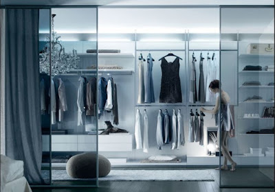 women's dressing room design with Decorative LED lights