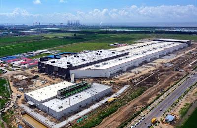 The Tesla Gigafactory in Nanhui New City, Shanghai, China