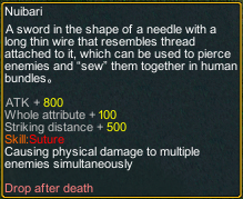 naruto counter attack Nuibari detail