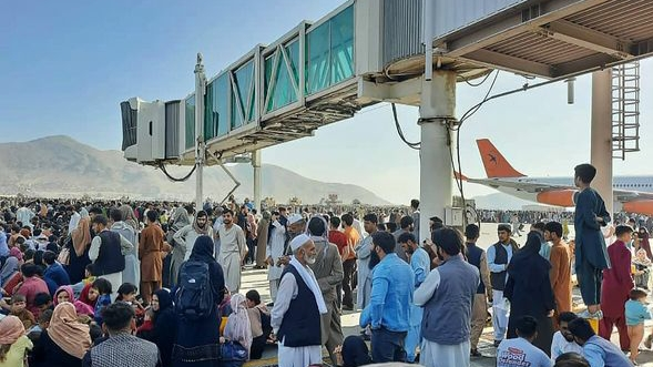 There was chaos at Kabul Airport in Afghanistan.