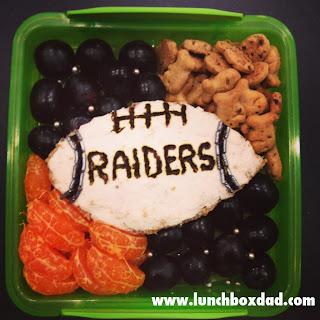 Raiders kids bento lunch
