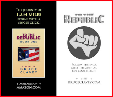 The journey of 1,254 miles begins with a single click. TO THE REPUBLIC by Bruce Clavey - Available on Amazon.com. Follow the saga. Meet the author. Buy cool merch. Visit BruceClavey.com.