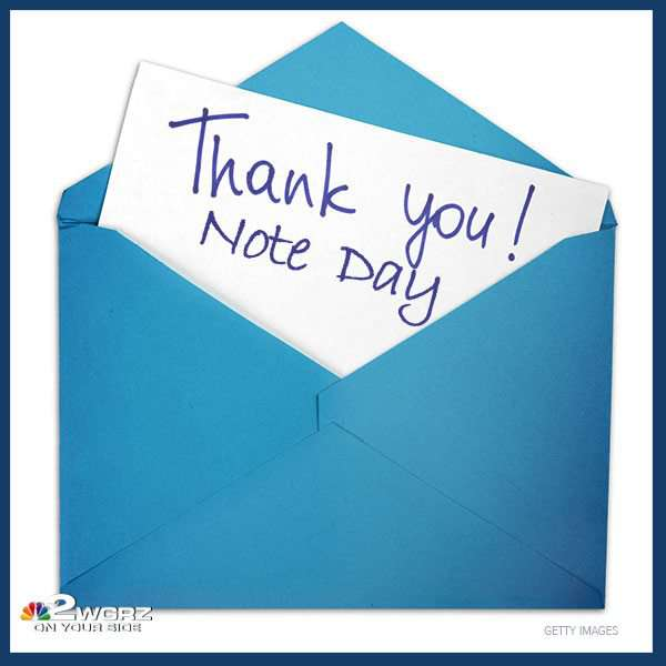 National Thank You Note Day Wishes Beautiful Image