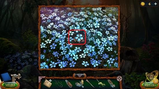 синие цветы на поляне с досточками в игре затерянные земли 4 скиталец