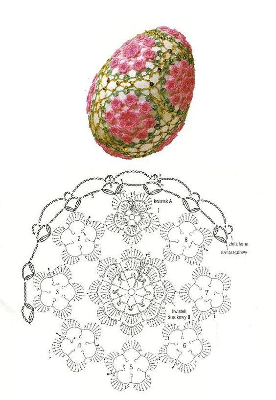 koronka na jajko szydelkiem