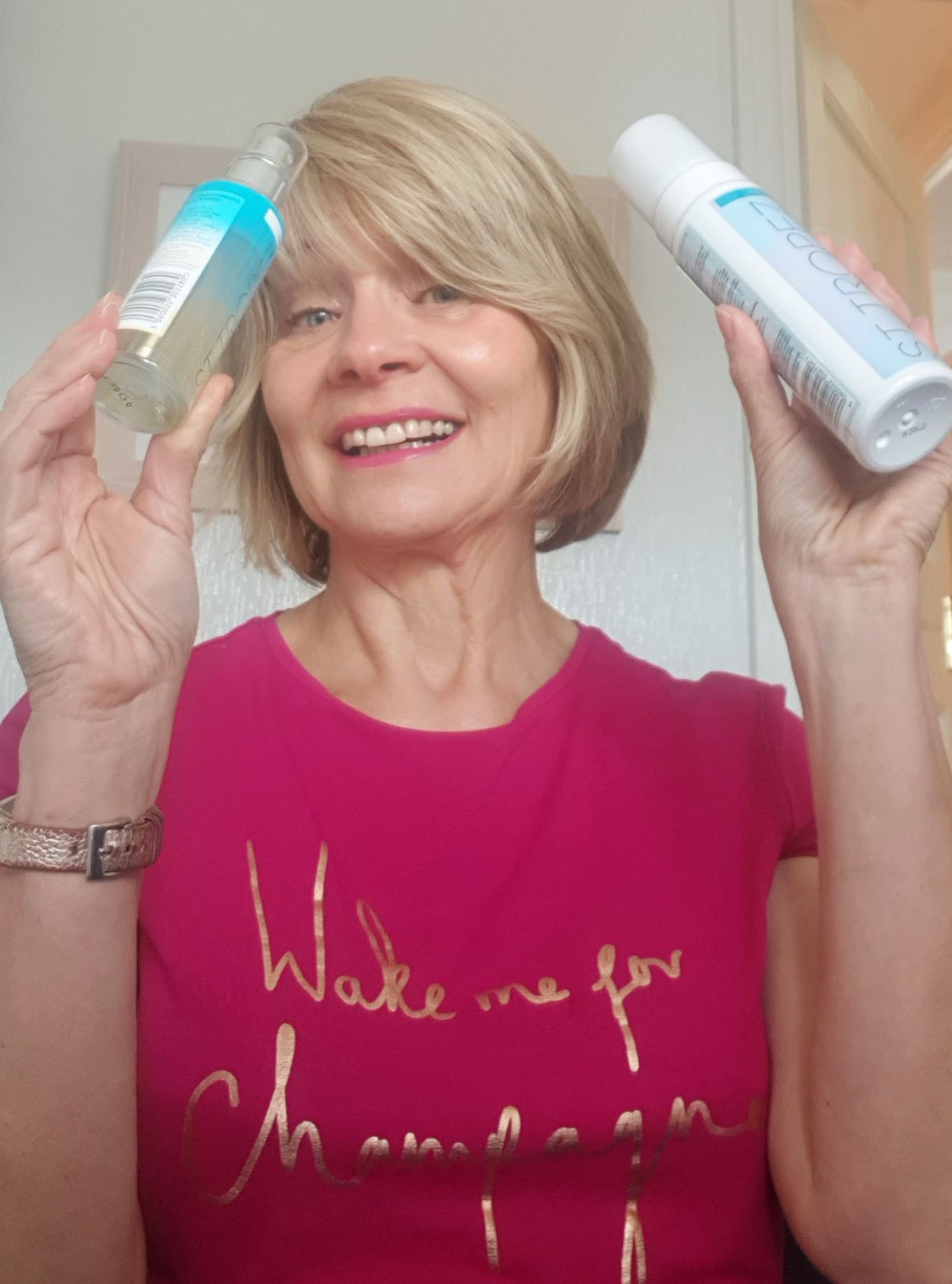 Over 50 fashion and beauty blogger Gail Hanlon with new St Tropez tanning products