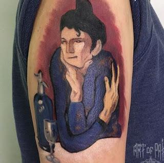 Акварель, татуировка