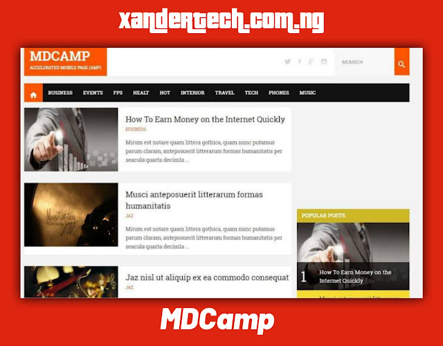 Download MDCamp AMP Blogger Template