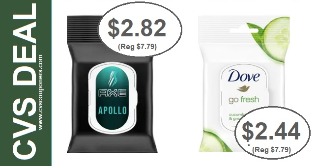 Dove & Axe Deodorant Wipes CVS Deals 818-824