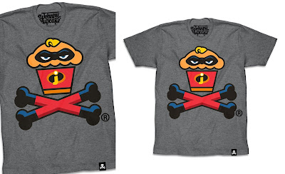 "Incredibles 2 ""Unbelievable Crossbones"" T-Shirt by Johnny Cupcakes x Disney x Pixar"