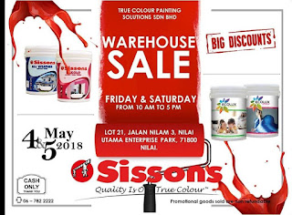 Sissons Warehouse Sale 2018