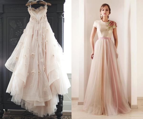 Wedding Gowns In Pink: Pemberley Rose: Inspired By Pink Wedding Gowns