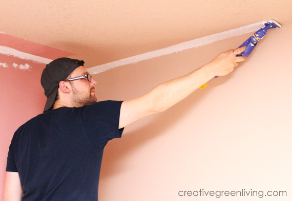 How to start painting a ceiling with a paint cutting in tool