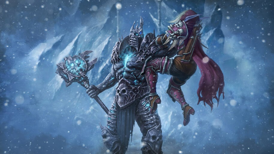 Lich King vs. Sylvanas Windrunner, WoW, 4K, #3.2703