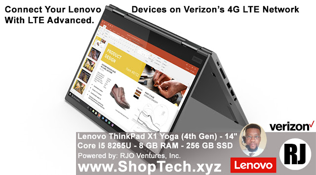 Buy Now: Lenovo ThinkPad X1 Yoga (4th Gen); Add Verizon 4G LTE Network [RJOVenturesInc.com]
